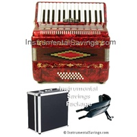 Rossetti 30 Key Piano Pro Accordion - Red