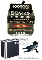 Rossetti Diatonic Deluxe Accordion - Black