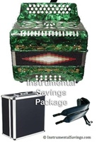 Rossetti Diatonic Deluxe Accordion - Green