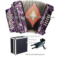 Rossetti Diatonic Deluxe Accordion - Purple