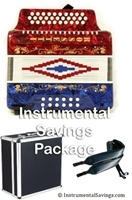 Rossetti Diatonic Deluxe Accordion-Red/White/Blue