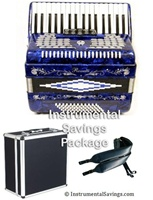 Rossetti 5-Switch Piano Accordion - Dark Blue