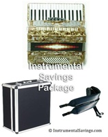 Rossetti 34 Key 5-Switch Piano Accordion - Gold