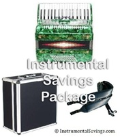 Rossetti 34 Key 5-Switch Piano Accordion - Green