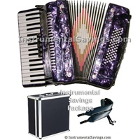 Rossetti 34 Key 5-Switch Piano Accordion - Purple