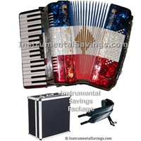 Rossetti 5-Switch Piano Accordion-Red/White/Blue