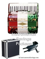 Rossetti 5-Switch Piano Accordion-Red/White/Green