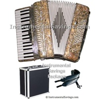 Rossetti 60 Bass, 34 Key 5-Switch Piano Accordion - Tiger