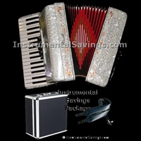 Rossetti 34 Key 5-Switch Piano Accordion - White