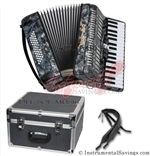 Del Sol 1307-Grey 5 Switch Piano Accordion