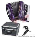 Del Sol 1307-Purple 5 Switch Piano Accordion