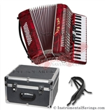 Del Sol 1307-Red 5 Switch Piano Accordion
