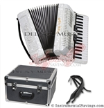 Del Sol 1307-Wht 5 Switch Piano Accordion