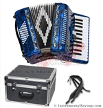 Del Sol CM-2648-DB 26/48 3 Switch Piano Accordion