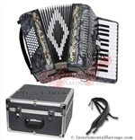 Del Sol CM-2648-Grey 26/48 3 Switch Piano Accordion