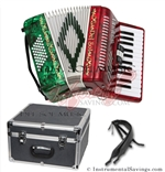 Del Sol CM-2648-RG 26/48 3 Switch Piano Accordion
