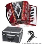 Del Sol CM-2648-Rd 26/48 3 Switch Piano Accordion