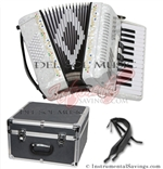 Del Sol CM-2648-Wh 26/48 3 Switch Piano Accordion