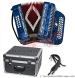 Del Sol CM-3412-DB Diatonic  12 Bass/34 Key Button Accordion