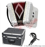 Del Sol CM-3412-Wh Diatonic 12 Bass/34 Key Button Accordion