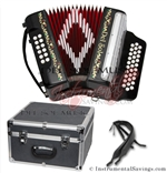 Del Sol CM-7001-Blk Diatonic 12 Bass Button Accordion
