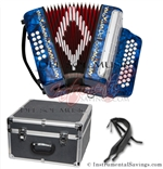 Del Sol CM-7001-DB Diatonic 12 Bass Button Accordion