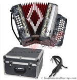 Del Sol CM-7001-Gry Diatonic 12 Bass Button Accordion
