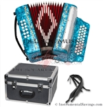 Del Sol CM-7001-LB Diatonic 12 Bass Button Accordion