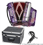 Del Sol CM-7001-P Diatonic 12 Bass Button Accordion