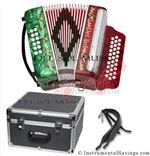 Del Sol CM-7001-RG Diatonic 12 Bass Button Accordion