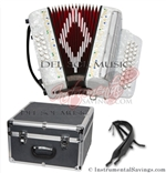 Del Sol CM-7001-Wh Diatonic 12 Bass Button Accordion