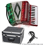 Del Sol CM-7005-RG 25 key Piano Accordion