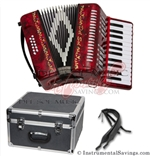 Del Sol CM-7005-Rd 25 key Piano Accordion