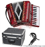 Del Sol CM-7006-Rd 25 key Piano Accordion