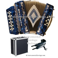 Rossetti 34 Button/12 Bass 3-Switches Accordion-Blue