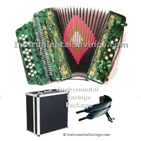 Rossetti 34 Button/12 Bass 3-Switches Accordion-Green