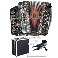 Rossetti 34 Button/12 Bass 3-Switches Accordion-Grey