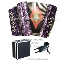 Rossetti 34 Button/12 Bass 3-Switches Accordion-Purple