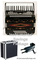 Rossetti 34 Key 5-Switch Piano Accordion - Black