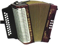 "Hohner ""Corso"" Diatonic Accordion"