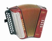 Hohner Erica - 2 Row Button Folk Accordion
