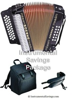 Hohner Classic Diatonic Accordion - Jet Black