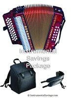 Hohner Classic Diatonic Accordion - Red Pearl