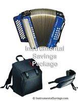 Hohner Corona II Classic Diatonic Accordion In Blue Color