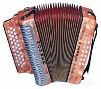 Hohner Corona II Classic Diatonic Accordion In Orange Color