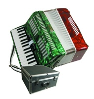 Mexican Flag Color Piano Key Accordion